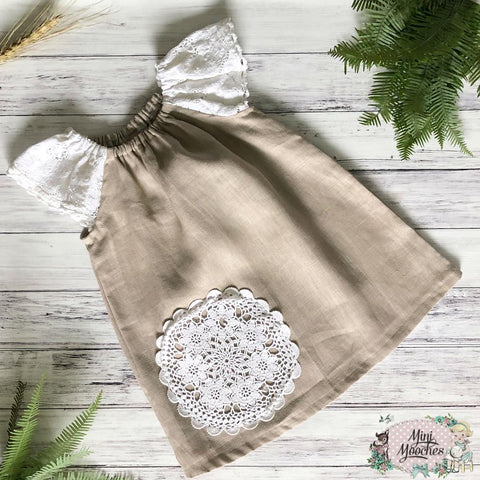 Exclusive Linen Ruby Dress - Taupe