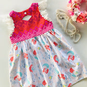 Tea Dress - Ariel - Mini Mooches is an Australian owned business specialising in handmade clothing and accessories for girls aged between 1-10. Beautifully designed Floral Dresses, Peplum Tops, Suspender skirts and shorts. Special occasions to everyday wear.