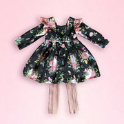 Ribbed Stretch Footless Leggings - Mini Mooches is an Australian owned business specialising in handmade clothing and accessories for girls aged between 1-10. Beautifully designed Floral Dresses, Peplum Tops, Suspender skirts and shorts. Special occasions to everyday wear.