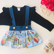 Madeline Suspender Skirt - Mini Mooches is an Australian owned business specialising in handmade clothing and accessories for girls aged between 1-10. Beautifully designed Floral Dresses, Peplum Tops, Suspender skirts and shorts. Special occasions to everyday wear.