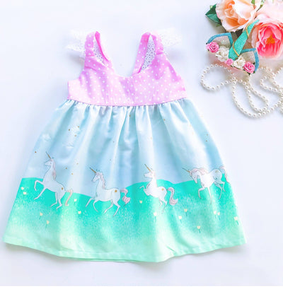 Maya Unicorn Hummingbird Dress