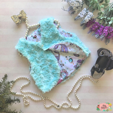 Mermaid - Reversible Minky Vest