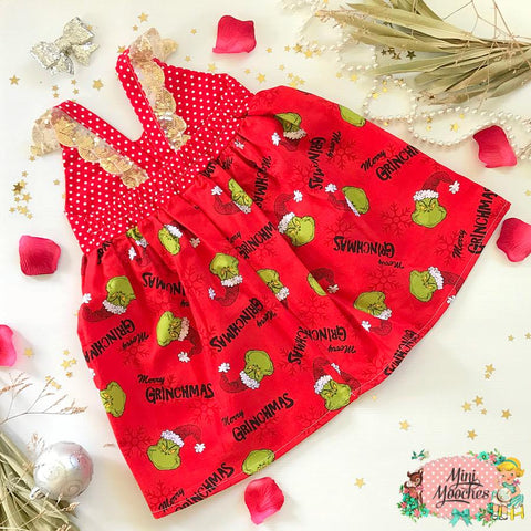 Merry Grinchmas Hummingbird Dress