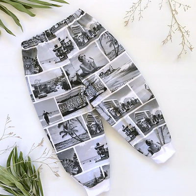 Miami Vice Boys / Girls Harem Pants - Mini Mooches is an Australian owned business specialising in handmade clothing and accessories for girls aged between 1-10. Beautifully designed Floral Dresses, Peplum Tops, Suspender skirts and shorts. Special occasions to everyday wear.