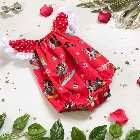 Minnie Christmas Seaside Romper