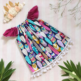 Feather Princess Navy Ruby Dress