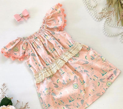 Boho Neverland Ruby Dress - Mini Mooches is an Australian owned business specialising in handmade clothing and accessories for girls aged between 1-10. Beautifully designed Floral Dresses, Peplum Tops, Suspender skirts and shorts. Special occasions to everyday wear.
