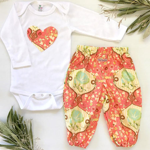 Orange Sunset Harem Pants Set