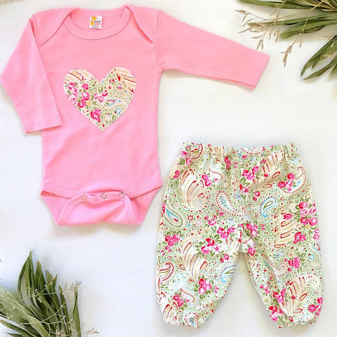 Pretty Paisley Harem Pants Set