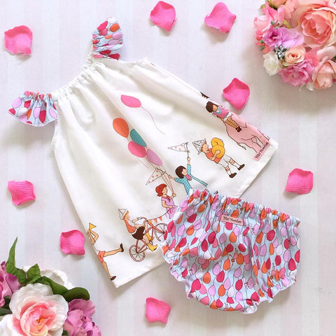 Party Time Bloomers & Ruby Dress Set