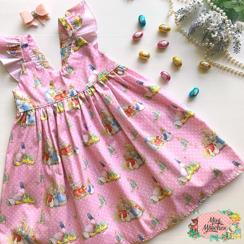 Peter Rabbit Pink Hummingbird Dress - Pre Order