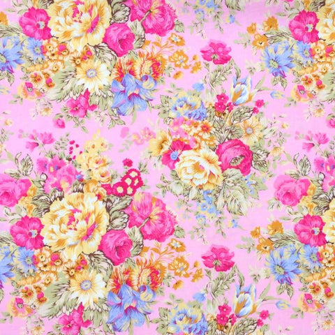 Bella Pink Floral Fabric
