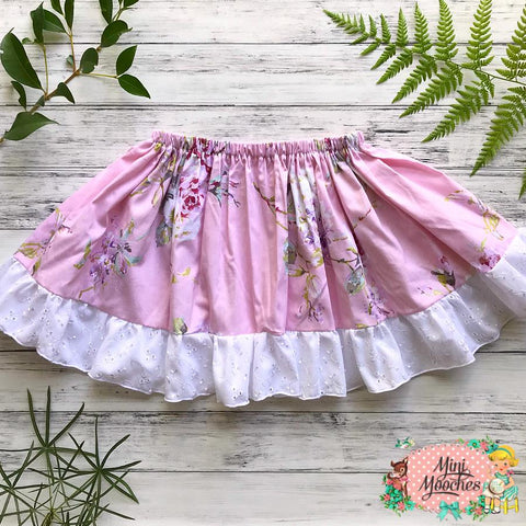 Dusty Rose Twirly Skirt