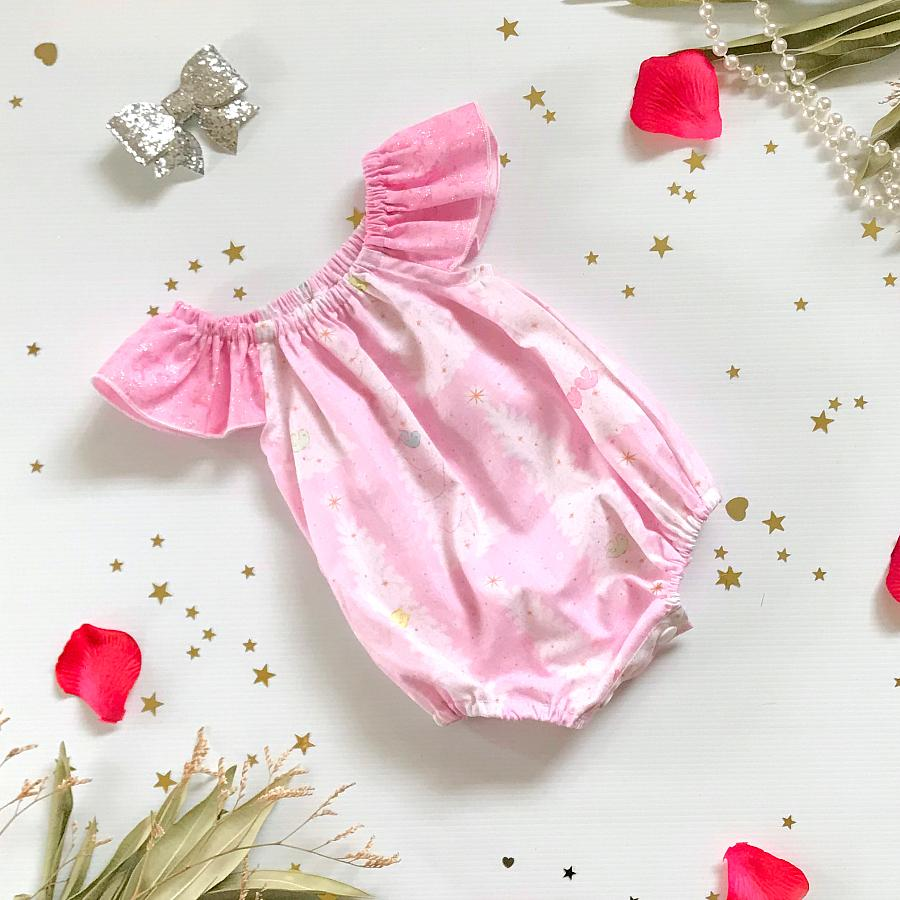 Pink Christmas Tree Seaside Romper