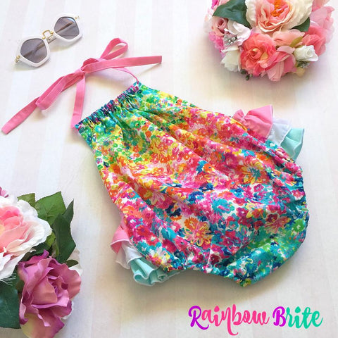 Rainbow Brite 3frill Play-suit