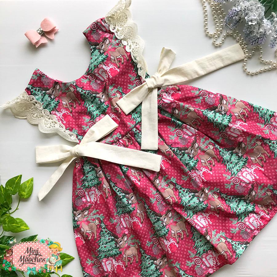 Reindeer Forest Red Dot Hampton Dress - Pre Order