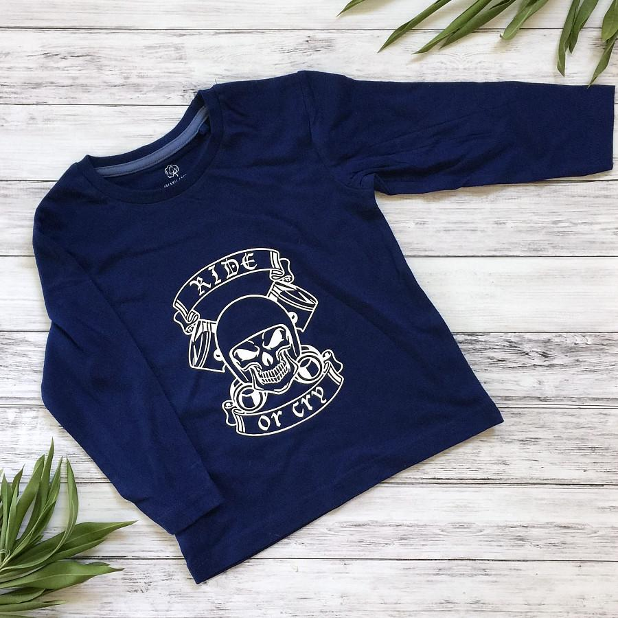 Ride or Cry Boys Long Sleeve Top