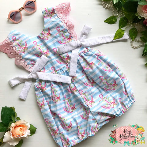 Little Sailor Girl Hampton Romper