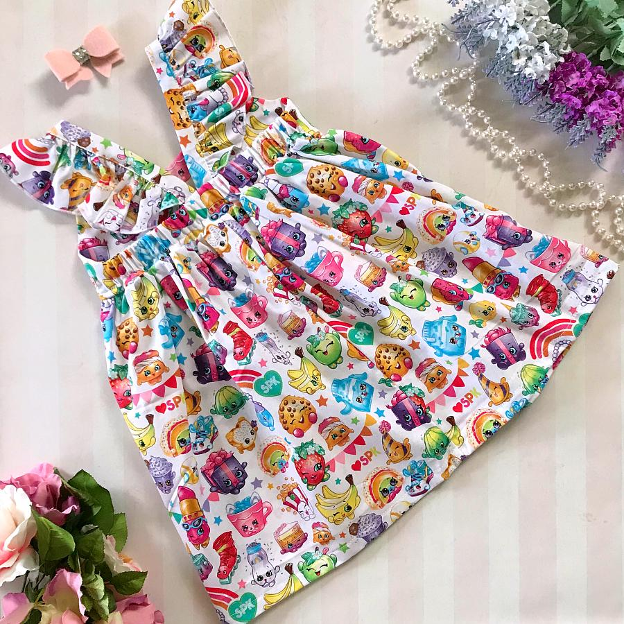 Shopkins White Hummingbird Dress