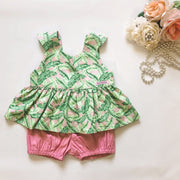 Sian Peplum Set - Mini Mooches is an Australian owned business specialising in handmade clothing and accessories for girls aged between 1-10. Beautifully designed Floral Dresses, Peplum Tops, Suspender skirts and shorts. Special occasions to everyday wear.