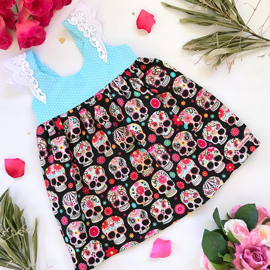 Sugar Skulls Hummingbird Dress