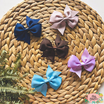 Small Bow Hair Clips - Packs of 2