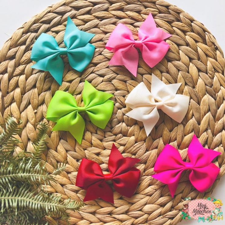 Small Bow Hair Clips - Pack of 2