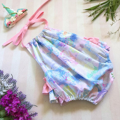 Sparkly Unicorn 3frill Play-suit