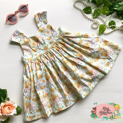 Sunflowers Tea Party Dress - Pre Order