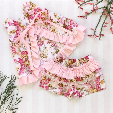 Little Sweet Pea Ruffle Shorts & Swing Top Set - Pre Order