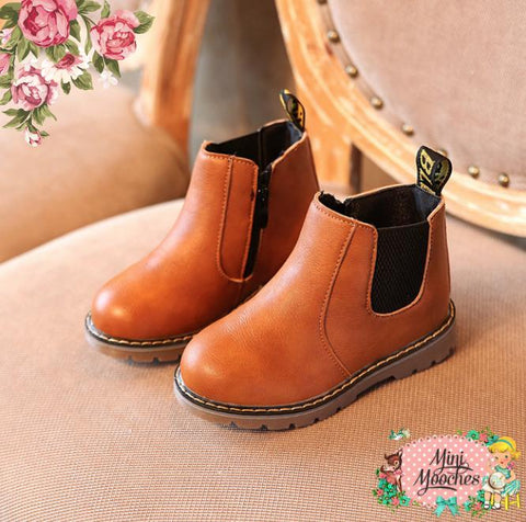 Tan 'Winter in Bloom' Boots