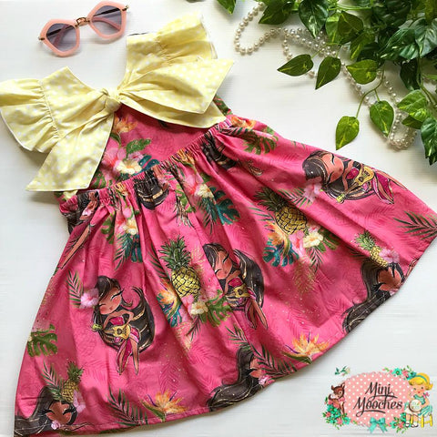 Tropical Vibes Hula Pink Ivy Dress - Pre Order!