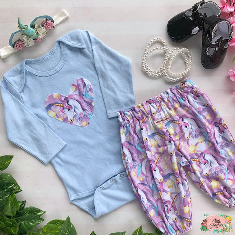 Unicorn Baby Harem Pant Set