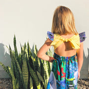 Ivy Dress - Uni - Mini Mooches is an Australian owned business specialising in handmade clothing and accessories for girls aged between 1-10. Beautifully designed Floral Dresses, Peplum Tops, Suspender skirts and shorts. Special occasions to everyday wear.