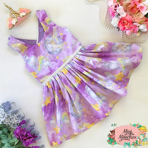 Unicorns in the Moonlight Stella Dress - Pre Order