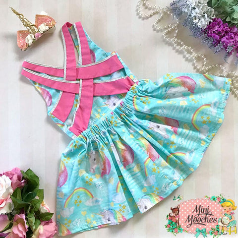 Aqua Unicorn Dreams Stella Dress - Pre Order