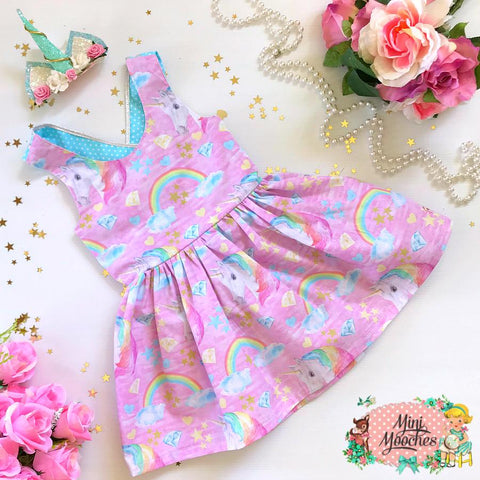 Pink Unicorn Dreams Stella Dress - Pre Order