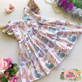 White Butterfly Garden Ivy Dress - Pre Order!