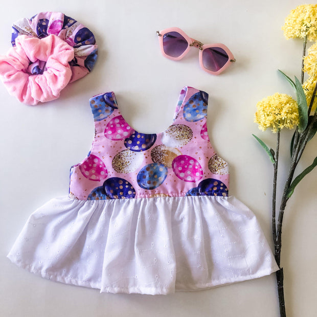 Peplum Top - Kyra - Mini Mooches is an Australian owned business specialising in handmade clothing and accessories for girls aged between 1-10. Beautifully designed Floral Dresses, Peplum Tops, Suspender skirts and shorts. Special occasions to everyday wear.
