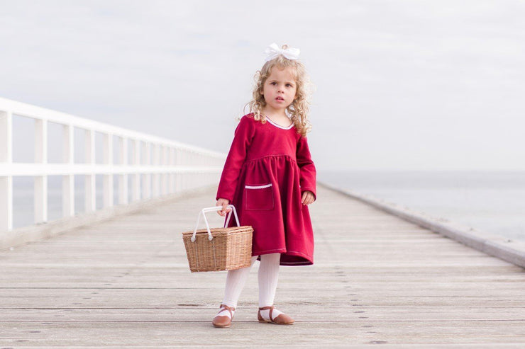 Tea Dress - Aubry - Mini Mooches is an Australian owned business specialising in handmade clothing and accessories for girls aged between 1-10. Beautifully designed Floral Dresses, Peplum Tops, Suspender skirts and shorts. Special occasions to everyday wear.