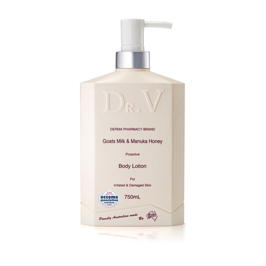 Goats Milk & Manuka Honey Body Lotion_Dr. V (750ml/25.4floz)