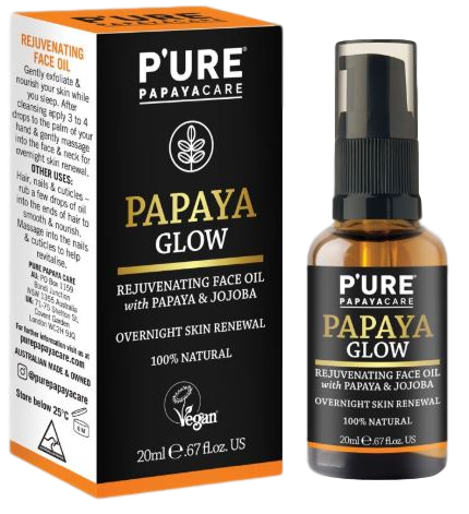 PAPAYA GLOW_Rejuvenating Face Oil_P'URE PAPAYACARE (20ml/0.67floz)
