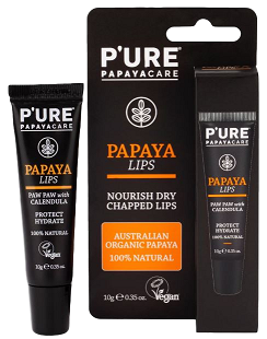 WS_192 x PAPAYA LIPS_P'URE PAPAYACARE (10g/0.35oz)