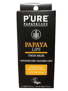 PAPAYA LIPS_Twin Pack_P'URE PAPAYACARE (2x10g/2x0.35oz)