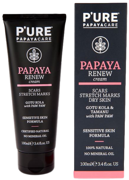 PAPAYA RENEW CREAM_Scars & Stretch Marks_P'URE PAPAYACARE (100ml/3.4floz)