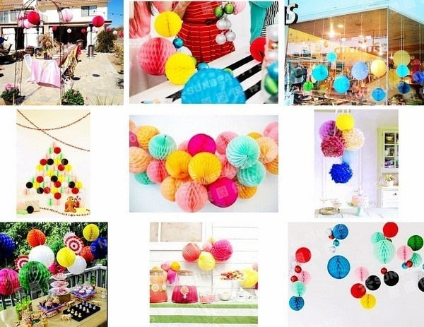 27pcs Paper Honeycomb Balls