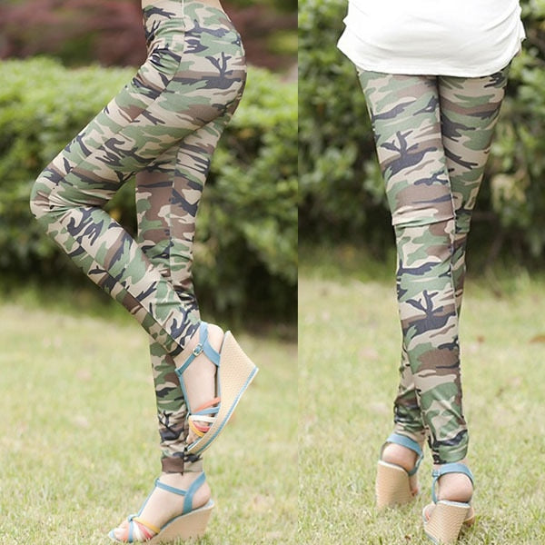 Women Army Print Leggings