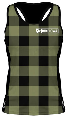 Green Plaid - Women's Gemini Tank