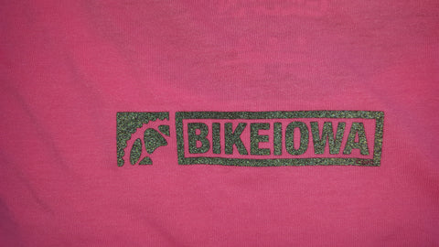 BIKEIOWA HOT Pink Ladies Reflective Tech-T-shirt