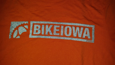 BIKEIOWA Blazing Orange Reflective Tech-T-shirt